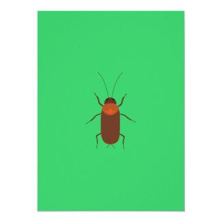 Cockroach 14 Cm X 19 Cm Invitation Card