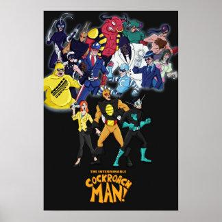 Cockroach Man Villains Poster