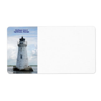 Cockspur Island Lighthouse Shipping Label
