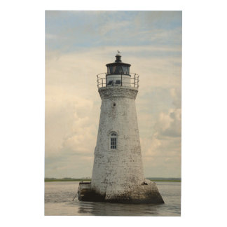 Cockspur Island LIghthouse Wood Wall Art