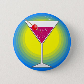 Cocktail 6 Cm Round Badge