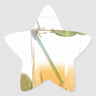 Cocktail Alcoholic Drink With Lime Peppermint Star Sticker