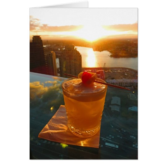 Cocktail at Sunset Card