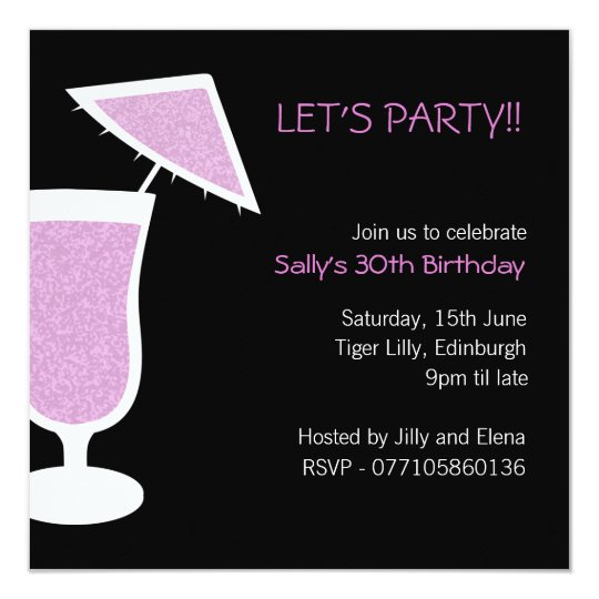Cocktail / Birthday Party Invitation