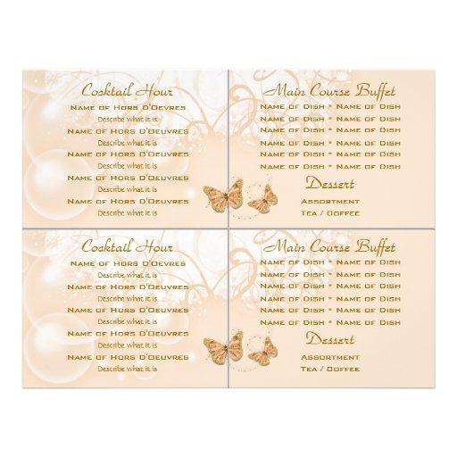 Cocktail buffet wedding menu template flyers zazzle for Wedding drink menu template free