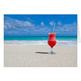 Cocktail by the sea greeting card