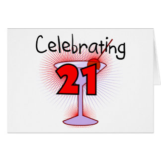 Cocktail Celebrating 21 Tshirts and Gifts Card