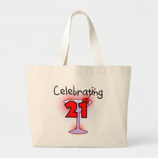 Cocktail Celebrating 21 Tshirts and Gifts Large Tote Bag