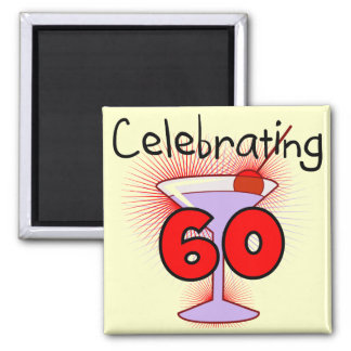 Cocktail Celebrating 60 Tshirts and Gifts Square Magnet