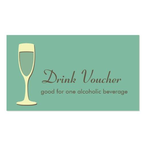 drink ticket template
