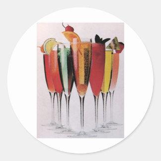 Cocktail Choices Round Sticker