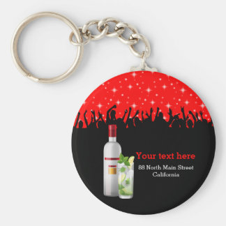 Cocktail * choose background color basic round button key ring