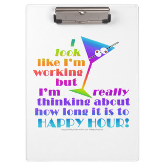 Cocktail Clip Board - How Long to Happy Hour