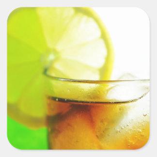 Cocktail design square sticker