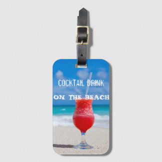 Cocktail Drink On The Beach Bag Tag