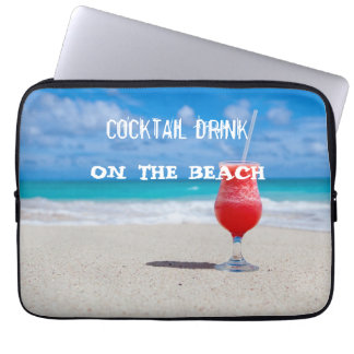 Cocktail Drink On The Beach Laptop Sleeve