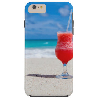 Cocktail Drink Tropical beach Turquoise Water Tough iPhone 6 Plus Case
