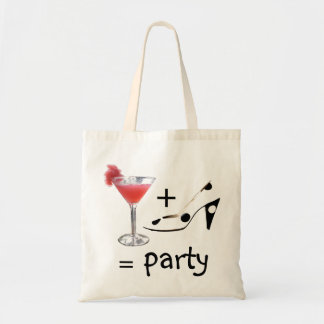 Cocktail Formula for Party Fun Budget Tote Bag