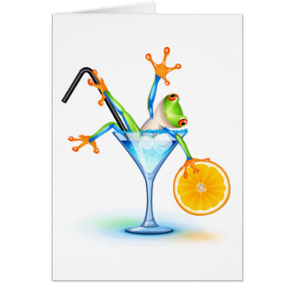 Cocktail Frog Card