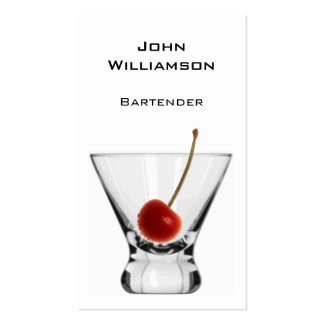 Cocktail Glass Cherry Professional Bartender Pack Of Standard Business Cards