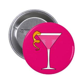Cocktail Glass & Orange Twist Button