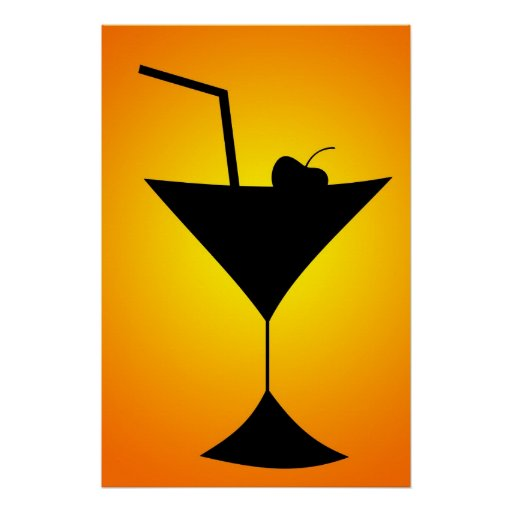 Cocktail Glass Poster