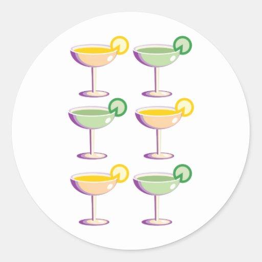 Cocktail Glasses Sticker