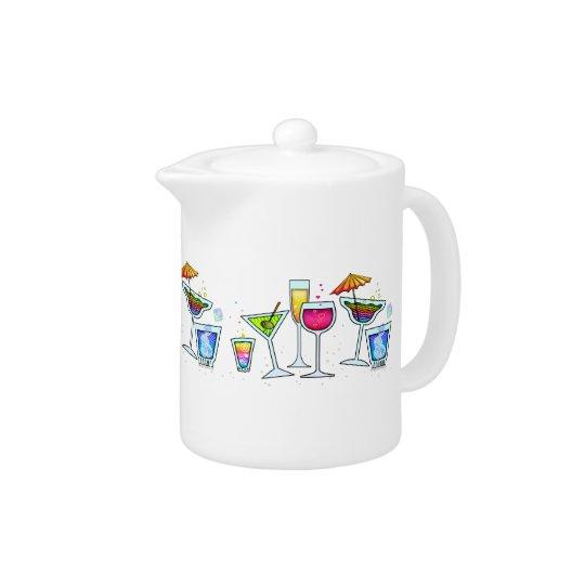 COCKTAIL GLASSES TEAPOT - MINI-PITCHER