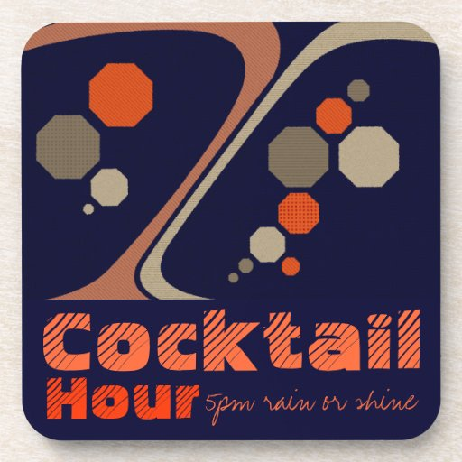 Cocktail Hour Customizable Coasters