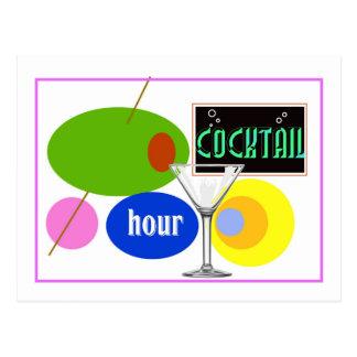 Cocktail Hour Kitsch Postcard