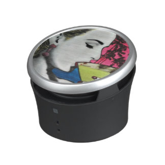 Cocktail Hour painting on a Bumpster Speakers Speaker