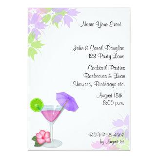 "Cocktail Invitation 5"" X 7"" Invitation Card"