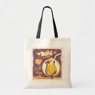 Cocktail Lounge Poster Tote Bag