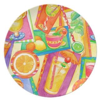 Cocktail Mania Dinner Plates