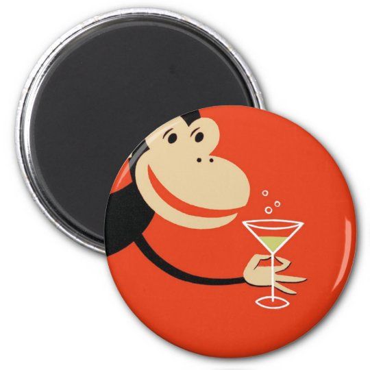 Cocktail Monkey Magnet