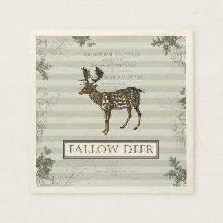 Cocktail napkin with Fallow Deer Disposable Napkin