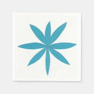 Cocktail Napkins with a Turquoise Star Design Paper Napkin