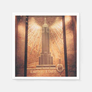 Cocktail Napkins with Empire State Building Disposable Serviette