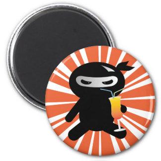 Cocktail Ninja 6 Cm Round Magnet