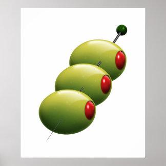 Cocktail Olives Poster - SRF