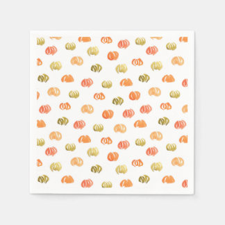 Cocktail paper napkins with pumpkins