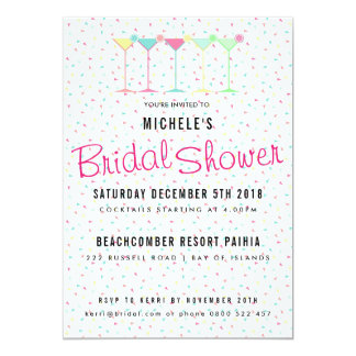 Cocktail Party Bridal Shower Card