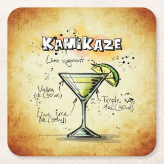 Cocktail Party Coaster Collection - Kamikaze