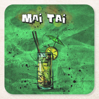Cocktail Party Coaster Collection - Mai Tai