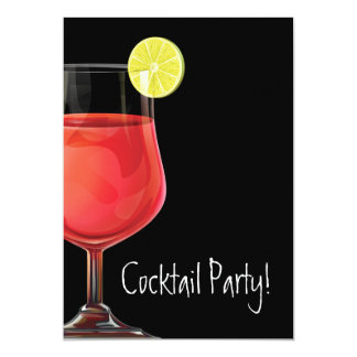 "Cocktail Party Invitation 5"" X 7"" Invitation Card"
