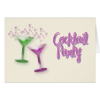 Cocktail Party Invitation Greeting Card