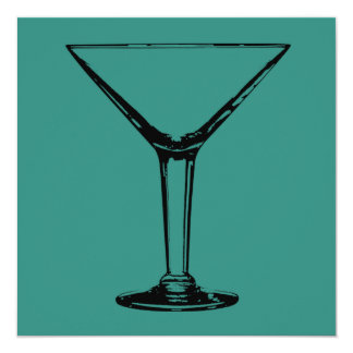 Cocktail Party Martini Glass Invitation