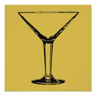 Cocktail Party Martini Glass Invitation
