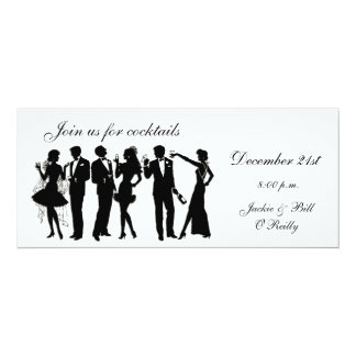 "Cocktail Party People 4"" X 9.25"" Invitation Card"