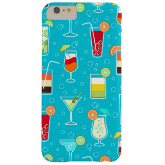 Cocktail Pattern on Teal Background Barely There iPhone 6 Plus Case